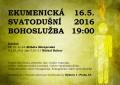plakát svatodušní bohoslužba 2016