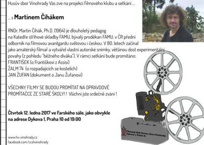 Filmový klub a setkání s Martinem Čihákem