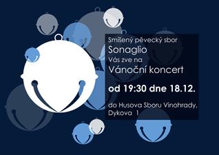 Vánoční koncert smíšeného pěveckého sboru Sognalio