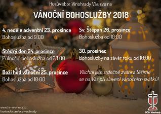 Bohoslužby v čase vánočním 2018