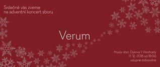 Advetní koncert sboru Verum