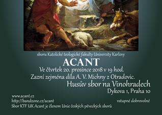 Vánoční koncert pěveckého sboru KTF UK Acant
