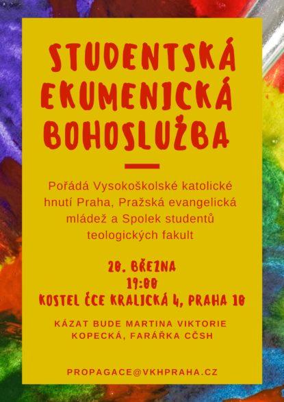 Ekumenická studentská bohoslužba v ČCE Strašnice!!