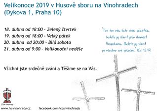 Velikonoce 2019 v Husově sboru na Vinohradech