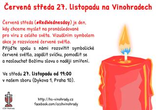 Červená středa 27. listopadu na Vinohradech