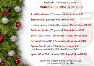 Vánoční svátky 2019 v Husově sboru na Vinohradech