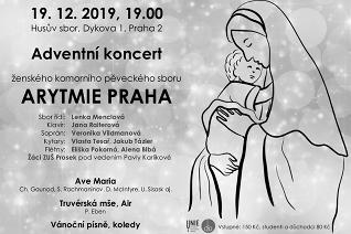 Adventní koncert ARYTMIE PRAHA 19. prosince