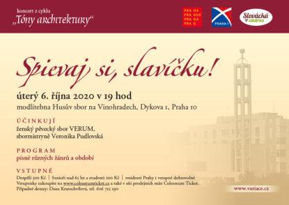 """6. 10. 2020 Koncert z cyklu """"Tóny architektury"""" - Spievaj si, slavíčku!"""