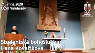 Hana Kovaříková - Studentská online bohoslužba