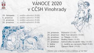 VÁNOCE 2020 v Husově sboru na Vinohradech