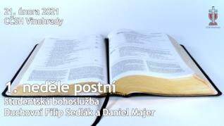 První neděle postní v CČSH Vinohrady (21. února 2021)