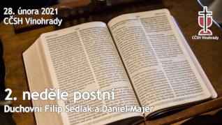 2. neděle postní v CČSH Vinohrady (28. února 2021)