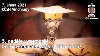 5. neděle v mezidobí v CČSH Vinohrady (7. února 2021)