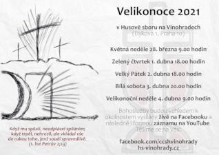 VELIKONOCE 2021 v Husově sboru na Vinohradech