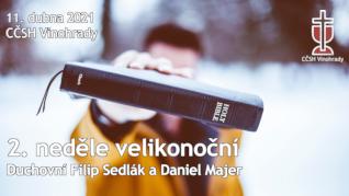 2. neděle velikonoční v CČSH Vinohrady (11. dubna 2021)