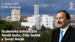 Tomáš Butta - studentská bohoslužba v CČSH Vinohrady (7. dubna 2021)