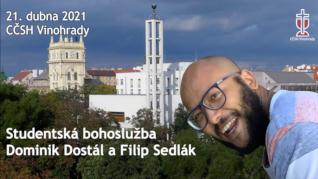 Dominik Dostál - studentská bohoslužba v CČSH Vinohrady (21. dubna 2021)