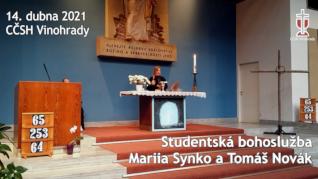 Mariia Synko - studentská bohoslužba v CČSH Vinohrady (14. dubna 2021)