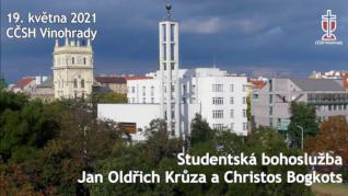 Jan Oldřich Krůza a Christos Bogkots - studentská bohoslužba v CČSH Vinohrady (19. května 2021)