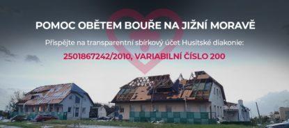 Husitská diakonie pořádá sbírku na pomoc lidem na jižní Moravě