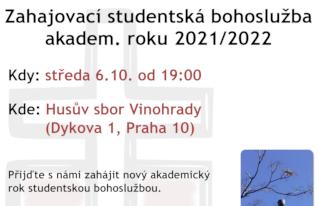 Zahajovací studentská bohoslužba akadem. roku 2021/2022